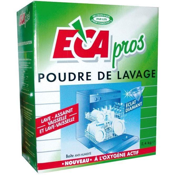 LIQUIDE LAVE-VAISSELLE Lessive poudre Eca pros - Boîte 2,4 kg