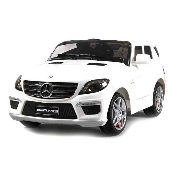 mercedes ml63 amg blanc voiture pour enfant 12v achat vente voiture enfant cdiscount. Black Bedroom Furniture Sets. Home Design Ideas