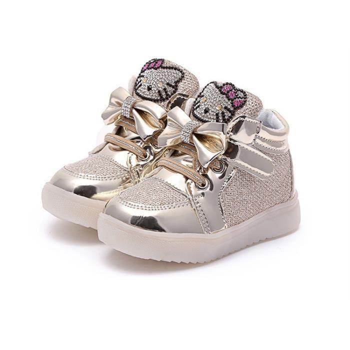 conduit a léger Flats enfants Sneakers anti animé filles dérapant Chaussures garçon chat bébé Sports 2016 dessin d5fx0Wdz
