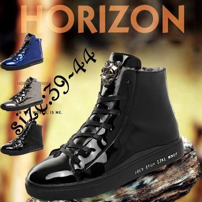 seniors Style Taille Chaussures de hommes Bottes 44 British d'hiver 39 Mode neige bottes d'hiver Les ZUzqZ