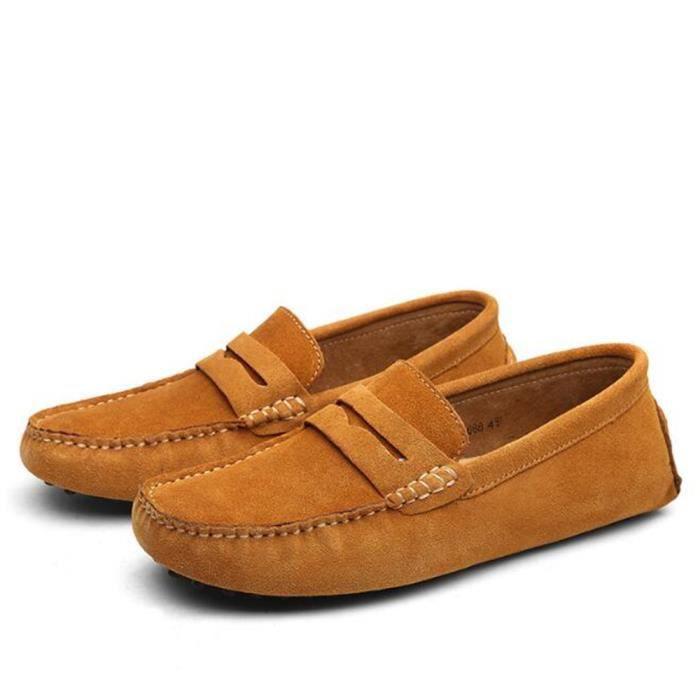 Hommes mocassins soft Mode chaussures de conduite des hommes Haut qualité Chaussures à semelles souples Grande Taille 38-45