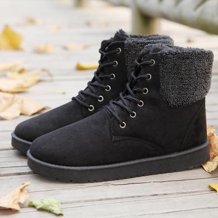 Bottes hiver Bottes de coton chaud pour hommes bottes de neige de mode wOuYx