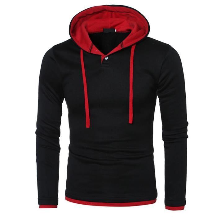 Hommes à manches longues à capuche chaude manteau à capuchon veste Outwear Sport Tops