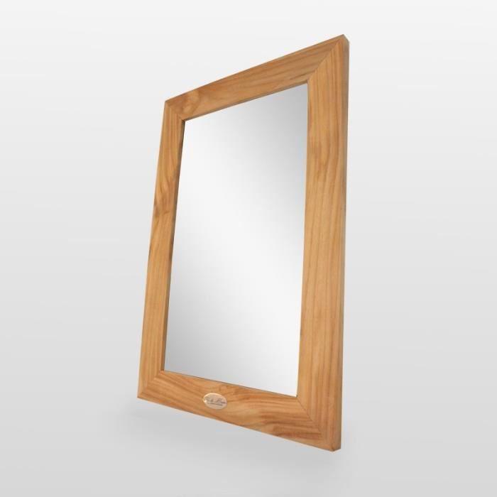 Miroir de salle de bain, teck 60x40 cm, Classic 45,000000 Clair ...