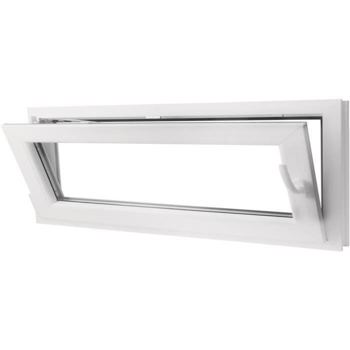 1100 X 400 Mm Fenêtre Oscillo Battante En Pvc Et Verre Avec Double