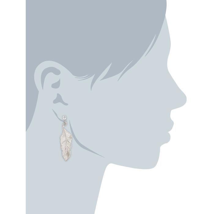 C1546e-90-03 - Boucles Doreille Femme - Argent 925-1000 5.8 Gr - Oxyde De Zirconium M5JE3