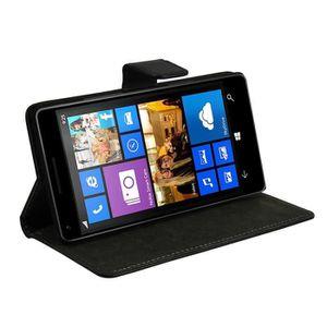 OMENEX Etui Folio pour Microsoft Lumia 950 Xl - Noir
