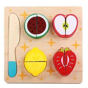 DINETTE - CUISINE Fruits de jouets en bois Cuisine Couper les légume