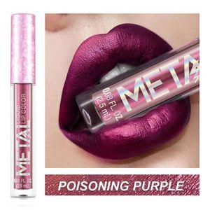 ROUGE A LÈVRES 12Colour Metal-liquide coloré rouge à lèvres brill
