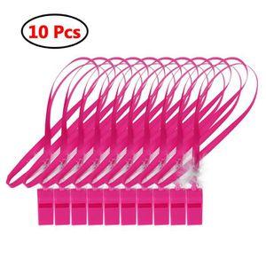 SIFFLET D'ARBITRE 10pcs Jeu de Sifflets en plastique rose  - sexy ad