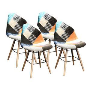 CHAISE Lot de 4 chaises de salle à manger design scandina