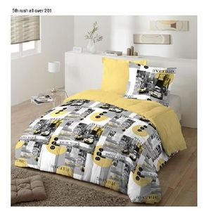 COUETTE Couette 220x240 New York .+ 2 oreillers : 65x65