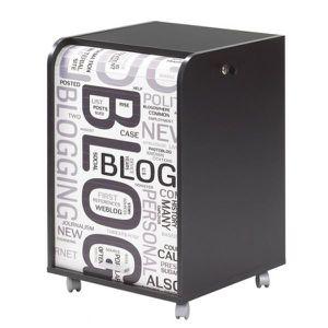 CAISSON DE BUREAU  Caisson de bureau 2 tiroirs 47,2 cm - Noir Blog
