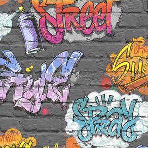 Papier Peint Graffiti Achat Vente Pas Cher
