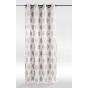 Voilage Lily - 140 x 240 cm - Couleur lin - Achat   Vente voilage ... 267604679f9c