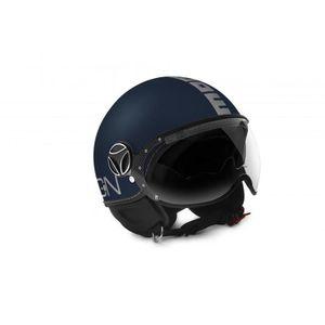 CASQUE MOTO SCOOTER MOMO DESIGN Casque Jet FGTR Evo Bleu Mat Logo Gris