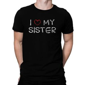 T-SHIRT Idakoos I love my Sister - T-Shirt