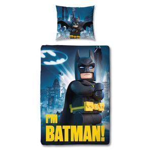 HOUSSE DE COUETTE ET TAIES Parure de couette 100% Coton LEGO BATMAN - 1 houss