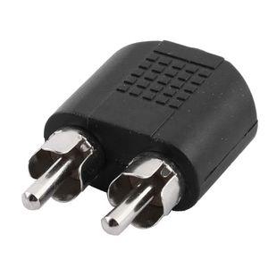 CÂBLE TV - VIDÉO - SON Jack 3.5mm femelle vers RCA mâle double adaptateur