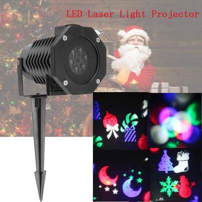 Extérieur Paysage Jardin Neufu Led Lumière Noël Fête Lampe Décoration Projecteur Laser QBoderxWC