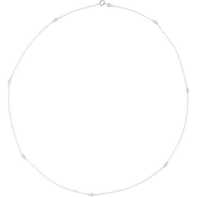 Argent Sterling 3ct 1/24 collier de diamants bruts