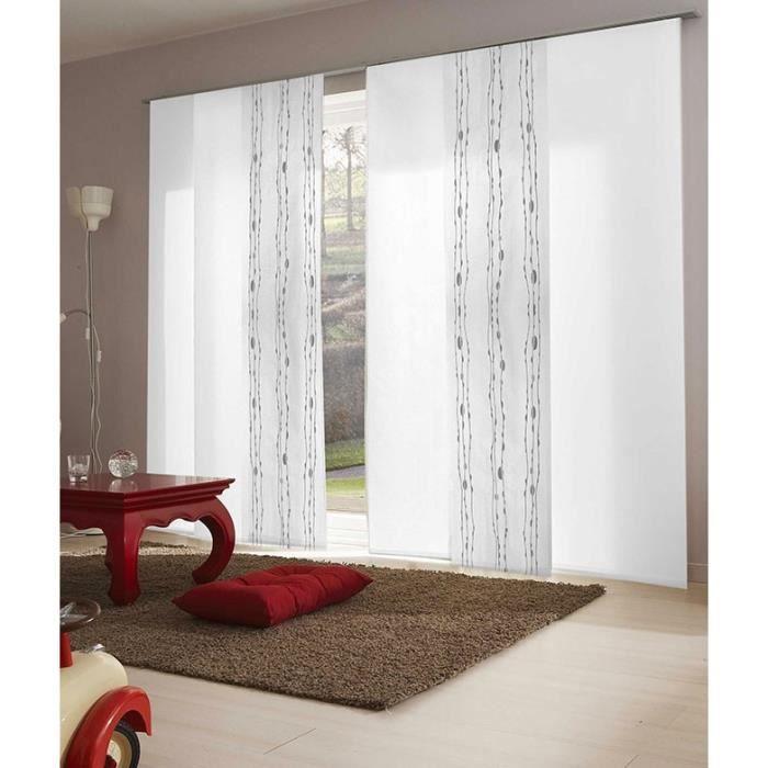 panneau japonais blanc d vor vague 45cm x 260cm achat vente panneau japonais cdiscount. Black Bedroom Furniture Sets. Home Design Ideas