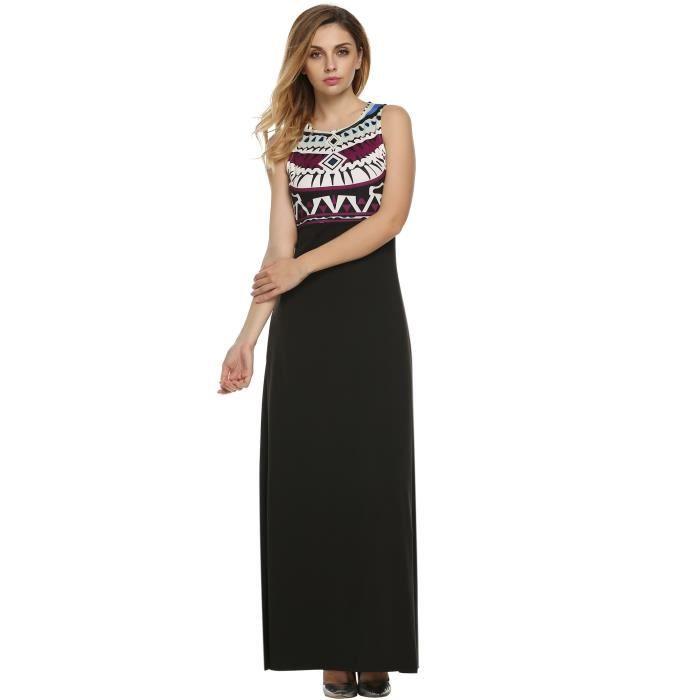 robe longue vintage de plage femme sans manches