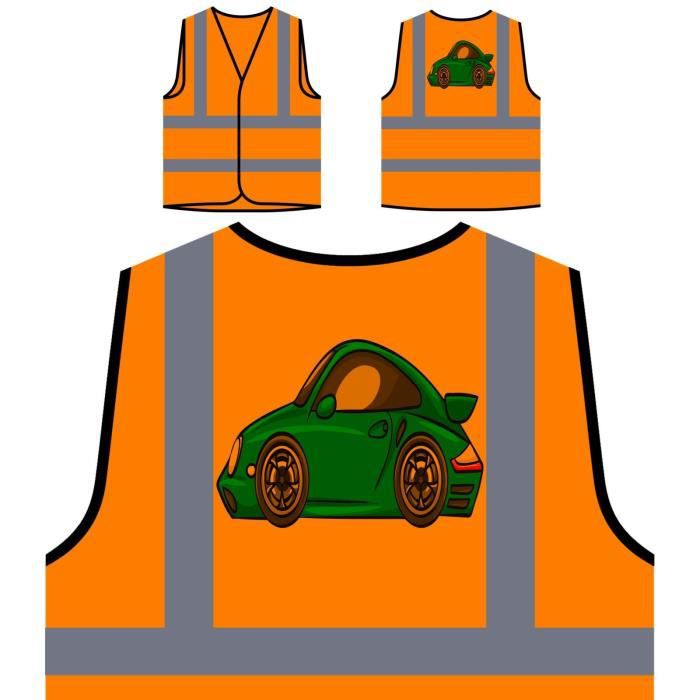 Orange Personnalis Sports Protection Veste Novelty Car Haute Personnalisée De Drôle cartoon À Visibilité gTqqEOnZw