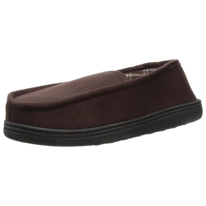 Perry Ellis Microsuede Slipper With Plaid Fleece Lining GC5JD Taille-L 4dYOPom7