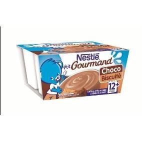 DESSERT FRUITS BÉBÉ NESTLÉ P'tit Gourmand Choco biscuité - 4x100 g - D