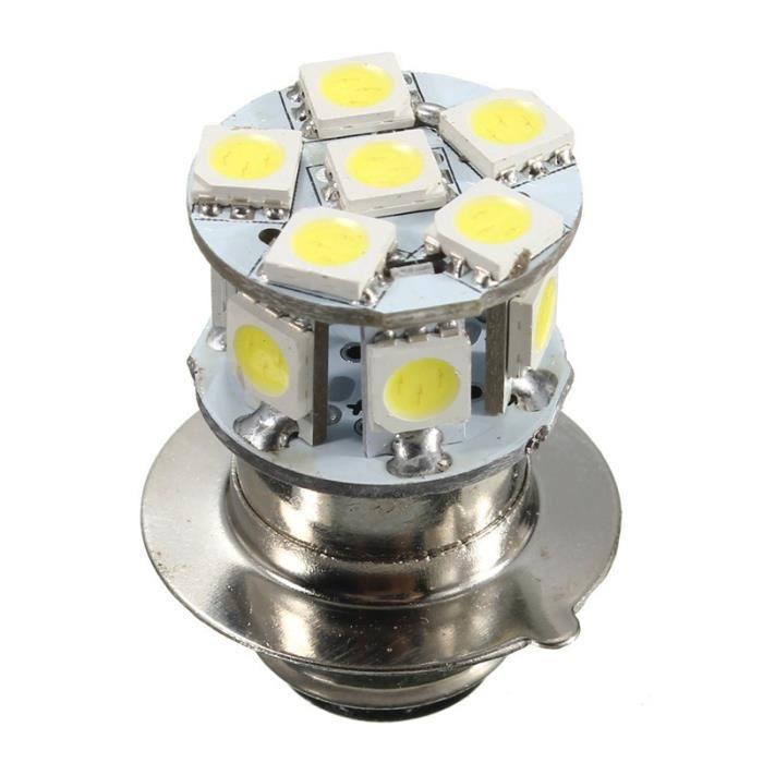 dc 6v p15d 5050 moto 12 led smd lampe phare blanc 120lm 2w ampoule de la lampe au royaume uni. Black Bedroom Furniture Sets. Home Design Ideas