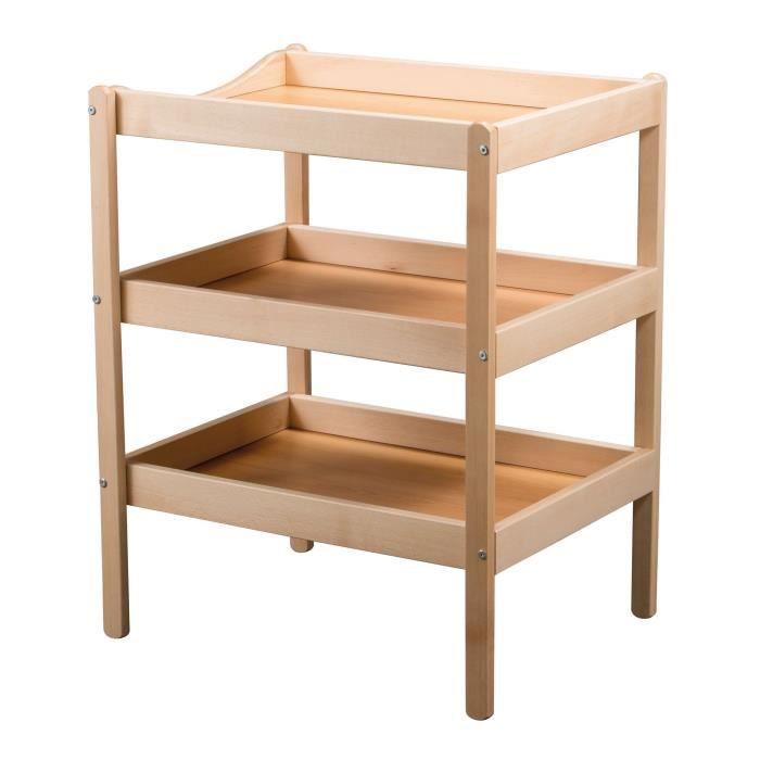 tineo table langer 3 plateaux vernis naturel vernis. Black Bedroom Furniture Sets. Home Design Ideas
