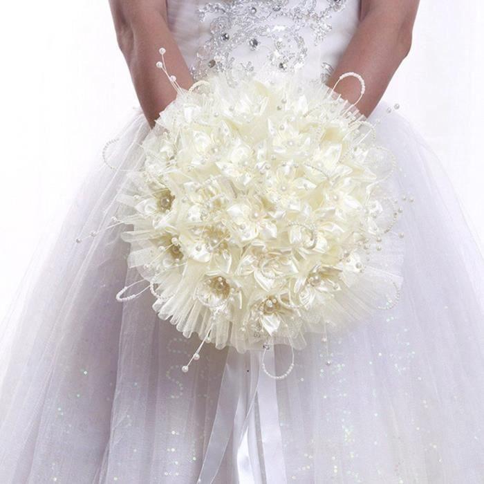 BOUQUET MARIÉE TISSU Qianle mariage romantique fleur rose Bouquet de ma