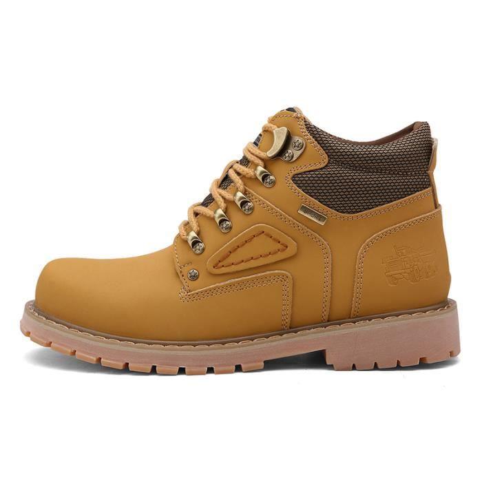 Chaud D'hiver Hommes Botte En Cuir Hommes En Plein Air Étanche En Caoutchouc bottes Angleterre Rétro chaussures pour hommes