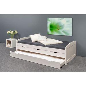 lit gigogne bois massif achat vente pas cher. Black Bedroom Furniture Sets. Home Design Ideas