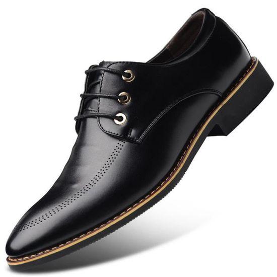 Chaussures Hommes Cuir Haut qualité Classique Homme chaussure de ville BBZH-XZ202Noir38 ll6Hqt