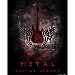 AFFICHE - POSTER Poster Reproduction Guitares - Guitar Heaven, Meta
