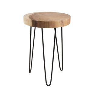 TABLE D'APPOINT Table d'appoint ronde ethnique en bois mungur mass