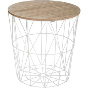 TABLE BASSE Table basse Kumi blanche