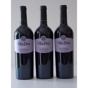 VIN ROUGE Lot de 3 bouteilles Villa Dria Cabernet rouge - Cô