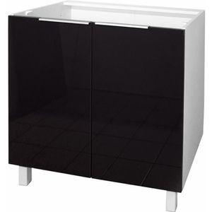 element de cuisine noir laque achat vente element de cuisine noir laque pas cher cdiscount. Black Bedroom Furniture Sets. Home Design Ideas