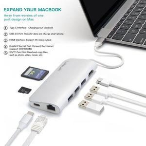 BATTERIE EXTERNE Hub USB C, LeTouch 8 en 1 Adaptateur Type C pour M