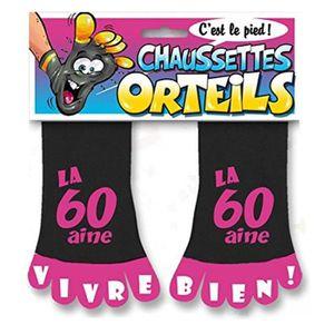Déco de fête murale Chaussettes à Orteils Noir/Violet - La 60aine