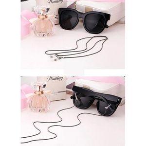 CORDON DE LUNETTES Chaîne de lunettes décorative antidérapantes noir 756c7aad1b3d