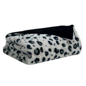 plaid leopard achat vente plaid leopard pas cher soldes d s le 10 janvier cdiscount. Black Bedroom Furniture Sets. Home Design Ideas
