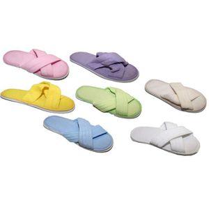 CHAUSSON - PANTOUFLE Lot de 2 paires de Chaussons Mule Pantoufle Claque