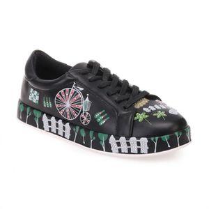 BASKET Baskets noires à motifs et strass-39 09e907e042cd