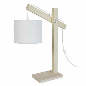 LAMPE A POSER PILORI/CYLINDRE Lampe bureau Bois hêtre - 27x27x50