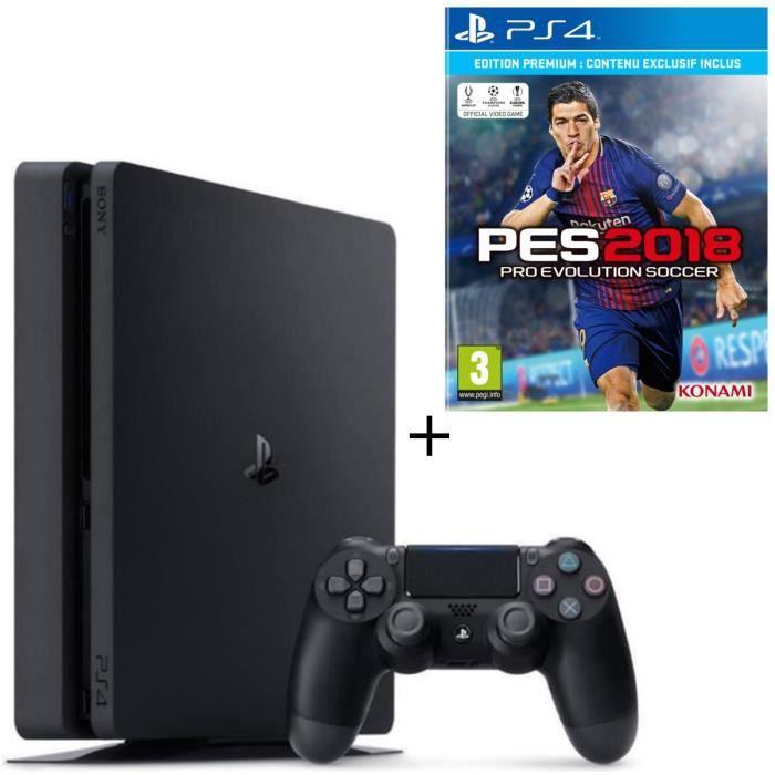 Pack PS4 500 Go + PES 2018 Jeu PS4