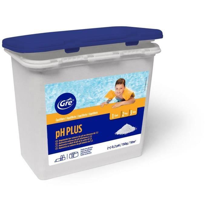 GRE Granulé régulateur de pH - 1 Kg - Pour augmenter et stabiliser le pH de la piscine